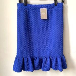 New Anthropology Stretchy Blue Skirt